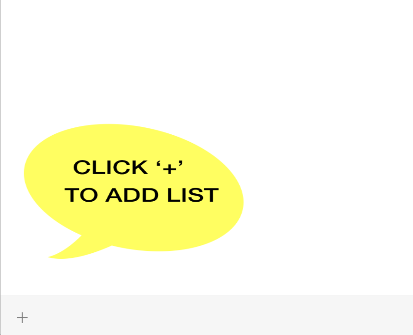 add list plus button